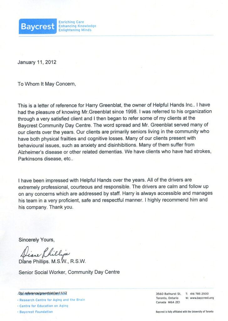 Testimonial by Baycrest hospital